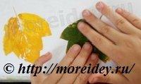 Осенние листья своими руками (штампы)