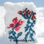 Рисование на снегу и объемные снежные раскраски