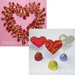 Сердечки - поделки из конфет