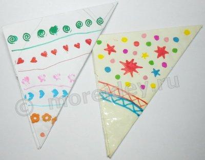 бумажная хлопушка, хлопушка из бумаги своими руками, хлопушка-оригами