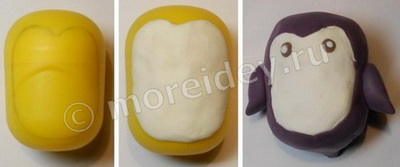 """Как сделать поделку """"Пингвин"""" из киндер-сюрприза и пластилина"""