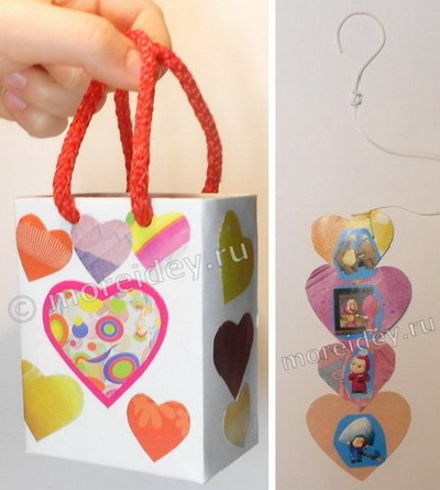 Пакетик для подарка ко Дню св. Валентина своими руками
