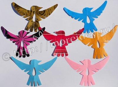 Птички своими руками с детьми из бумаги