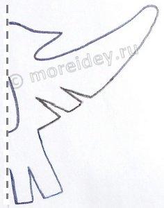 Простой шаблон бумажной птички для симметричного вырезания