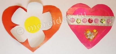 Поделки валентинки из бумаги в подарок маме