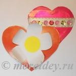 Валентинки из бумаги для мамы