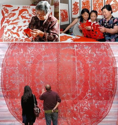 Искусство вырезания из бумаги «Цзяньчжи»