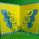 Объемная открытка с ажурной бабочкой