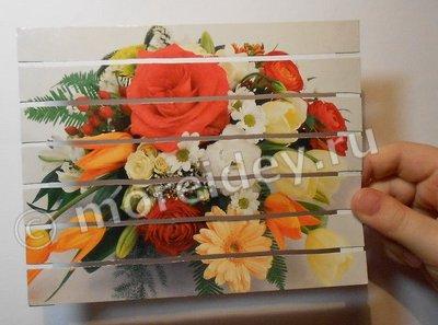 Как сделать своими руками панно из старой открытки в подарок к 8 марта или ко Дню Матери
