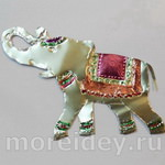 Слон — поделка из фольги