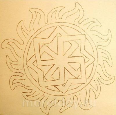 """Шаблон (схема) для поделки из фольги """"Солнышко"""""""
