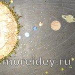 Аппликация «Планеты Солнечной системы» из фантиков