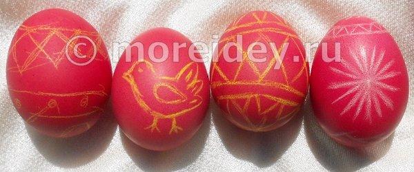 Пасхальные яйца с рисунками