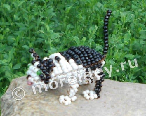 Кошка из бисера со схемой