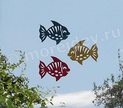 Вытынанки на окна рыбки