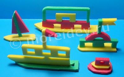 Кораблики из бросового материала