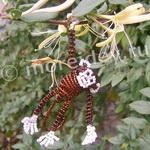 Объемные животные из бисера - обезьянка