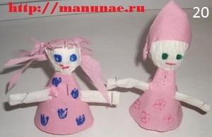 Детские поделки из салфеток - куколки