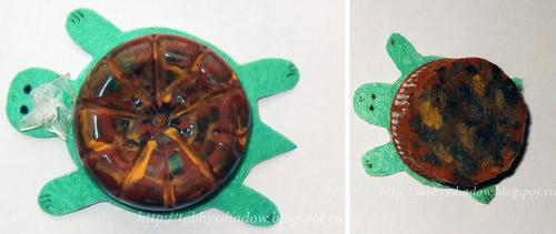 Поделка черепаха Тортилла по сказке А. Толстого