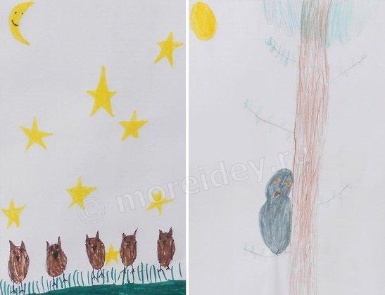 Рисунок совы