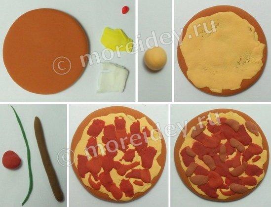 Игрушечная еда для кукол своими руками - пицца