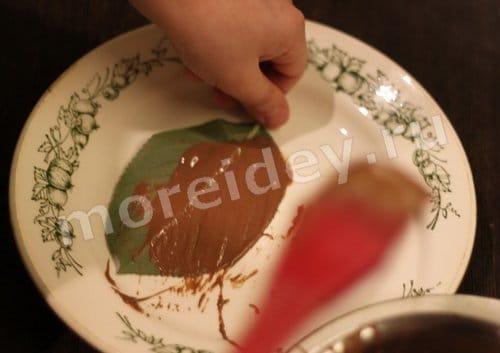 как сделать шоколадные листья в домашних условиях