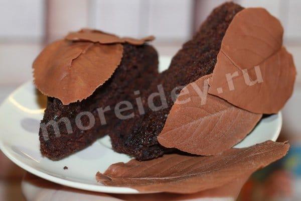 как сделать шоколадные листья для торта