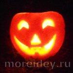Светильник на Хэллоуин из апельсина. МК