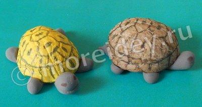 поделки из скорлупы ореха - черепахи