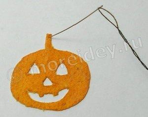 Поделки к Хэллоуину из мандариновой кожуры