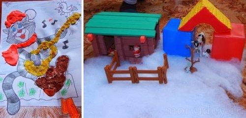 Поделки по сказке Успенского Зима в Простоквашино