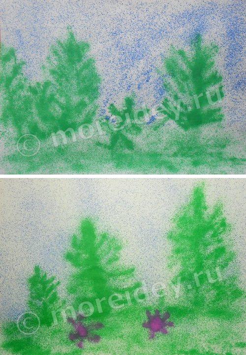 Рисунки воздушными фломастерами