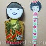 Куклы кокэси своими руками: закладка и сувенир