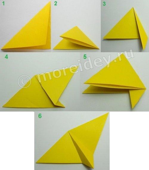 Оригами бабочка, машущая крыльями