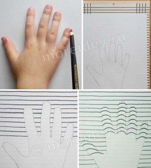 Как сделать 3д руку из бумаги фото 767