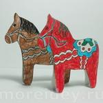 Лошадка - простая поделка для детей из картона