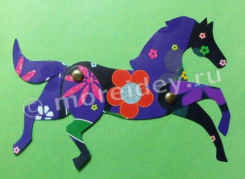 Поделка лошадка с двигающимися ногами