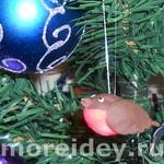 Снегирь - новогодняя елочная игрушка