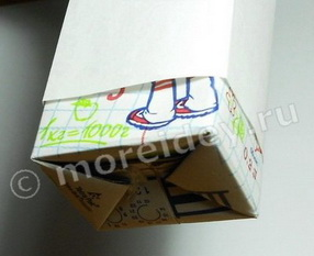 снеговики - поделка из пакетов от сока