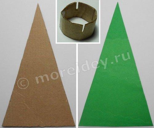 Поделка елочка из картона