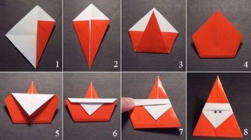 оригами из бумаги Новый год