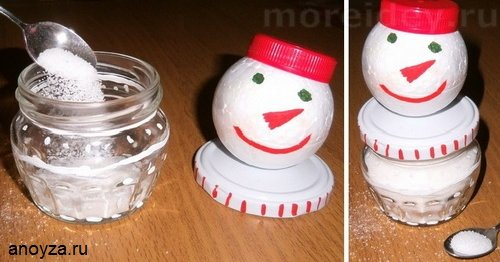 Поделка снеговик для украшения стола