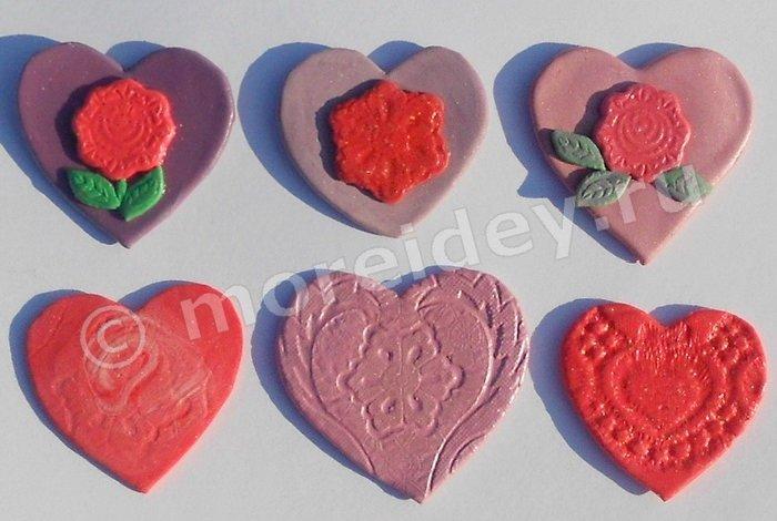 Поделки сердечки из массы для лепки, соленого теста и т.д.