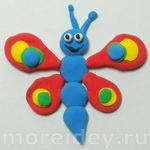 Бабочка из пластилина