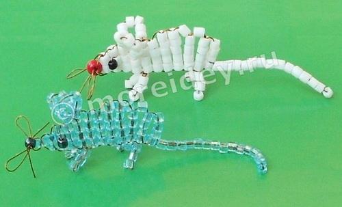 Поделки из бисера для начинающих - мышка