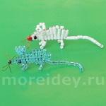Мышки из бисера со схемой
