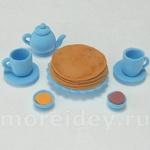 Миниатюрная посуда для кукол своими руками