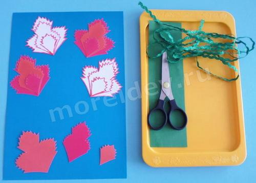 Поделка цветы гвоздики своими руками в детском саду