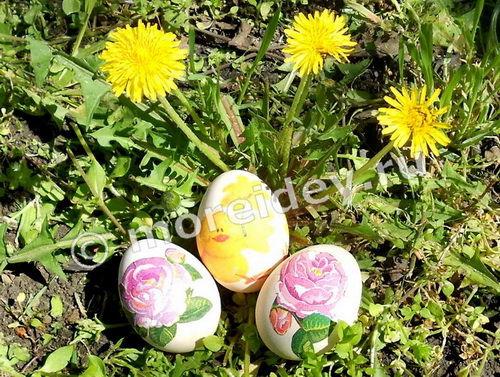 Пасхальные яйца своими руками в технике декупаж