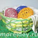 Ажурные объемные пасхальные яйца из ниток